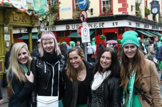 Shelby, Candy, Rakel, Myself, and Sam in Dublin.